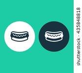 vector illustration of hot dog... | Shutterstock .eps vector #435848818