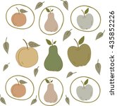 the pattern of fruit | Shutterstock .eps vector #435852226