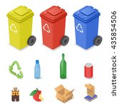 vector isometric set of waste... | Shutterstock .eps vector #435854506