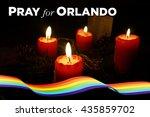 pray for orlando   12 june 2016 | Shutterstock . vector #435859702