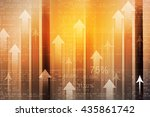 business arrow graph. financial ... | Shutterstock . vector #435861742