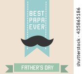 father's day poster... | Shutterstock .eps vector #435865186