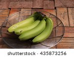 Green Banana In A Basket