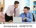 young engineers working in the... | Shutterstock . vector #435875755