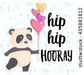 hip hip hooray. happy birthday  ... | Shutterstock .eps vector #435881812