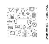 illustration of symbols school... | Shutterstock .eps vector #435884932