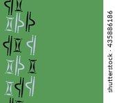 seamless  vertical pattern of... | Shutterstock .eps vector #435886186