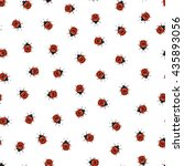 ladybug seamless pattern. hand... | Shutterstock .eps vector #435893056