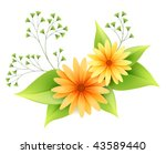 vector daisy flowers with... | Shutterstock .eps vector #43589440