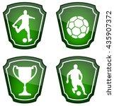 soccer icons   vector | Shutterstock .eps vector #435907372