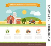 organic farming and industrial... | Shutterstock .eps vector #435910408