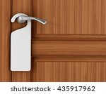paper signboard hanging on a... | Shutterstock . vector #435917962