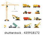 construction machinery set... | Shutterstock .eps vector #435918172
