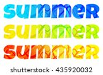 three vector bright colored... | Shutterstock .eps vector #435920032