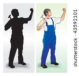 working | Shutterstock .eps vector #43592101