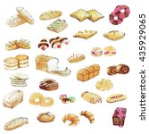 bakery color waterpaint | Shutterstock . vector #435929065