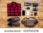 travel concept boots  shirt ... | Shutterstock . vector #435930298