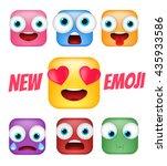modern emoticons set. square...   Shutterstock .eps vector #435933586