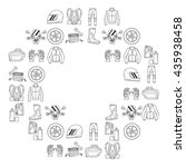 vector set of linear motorcycle ... | Shutterstock .eps vector #435938458