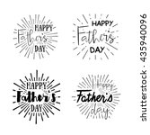 happy father's day calligraphic ... | Shutterstock .eps vector #435940096