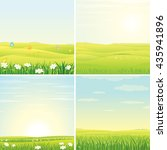 summer day. set of vector... | Shutterstock .eps vector #435941896