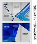 modern tri fold template for... | Shutterstock .eps vector #435942352
