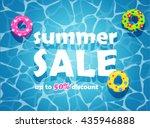 summer sale design template.... | Shutterstock .eps vector #435946888