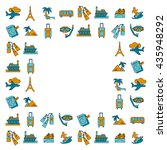 vector set of travel icons...   Shutterstock .eps vector #435948292
