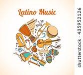 salsa musical card. invitation... | Shutterstock .eps vector #435952126
