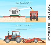 agricultural vehicles. farm.... | Shutterstock .eps vector #435953692