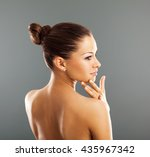 attractive woman with nice and... | Shutterstock . vector #435967342