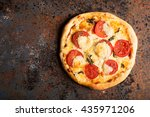Pizza Margherita With Tomatoes...