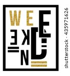 slogan vector print.for t shirt ... | Shutterstock .eps vector #435971626