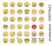 set of emoticons  emoji... | Shutterstock .eps vector #435979612