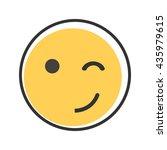 eyewink emoticon. | Shutterstock .eps vector #435979615