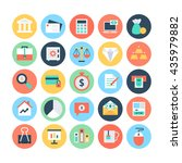 finance flat vector icons 1 | Shutterstock .eps vector #435979882