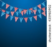 bunting flags  hanging bunting... | Shutterstock .eps vector #435983902