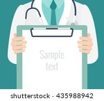close up of a male doctor with... | Shutterstock .eps vector #435988942