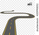 vector isolated road | Shutterstock .eps vector #435990052