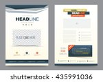 blue annual report brochure... | Shutterstock .eps vector #435991036