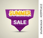 vector summer sale sticker ....   Shutterstock .eps vector #435991612