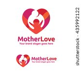 family love logo  mother and... | Shutterstock .eps vector #435992122