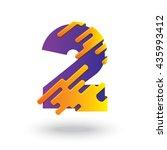 creative 2 number design vector ... | Shutterstock .eps vector #435993412