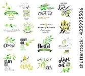 set of olive oil labels. hand... | Shutterstock .eps vector #435995506