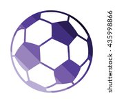 soccer ball icon. flat color...