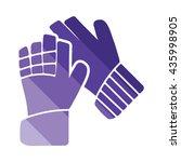 soccer goalkeeper gloves icon....
