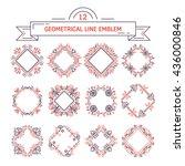 vector set of flower frames...   Shutterstock .eps vector #436000846