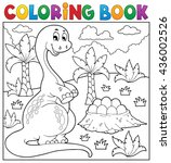 coloring book dinosaur topic 8  ... | Shutterstock .eps vector #436002526