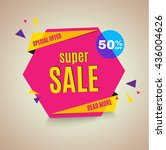 sale banner. 50  off. vector... | Shutterstock .eps vector #436004626