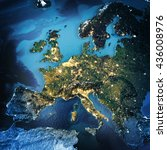 europe. elements of this image...   Shutterstock . vector #436008976